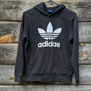 Adidas Trefoil Spellout Black Hoodie
